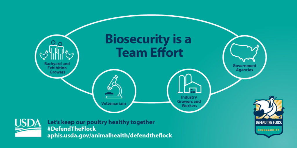 USDA Defend the Flock biosecurity graphic