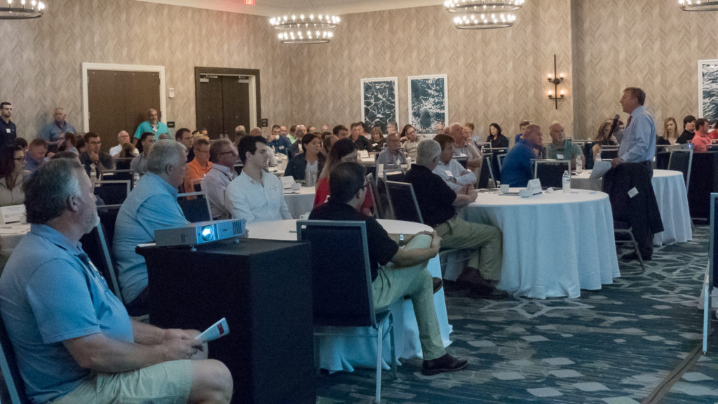 Turkey Industry Days attendees seated while watching a speaker