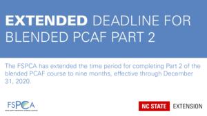 Extended deadline for blended PCAF Part 2