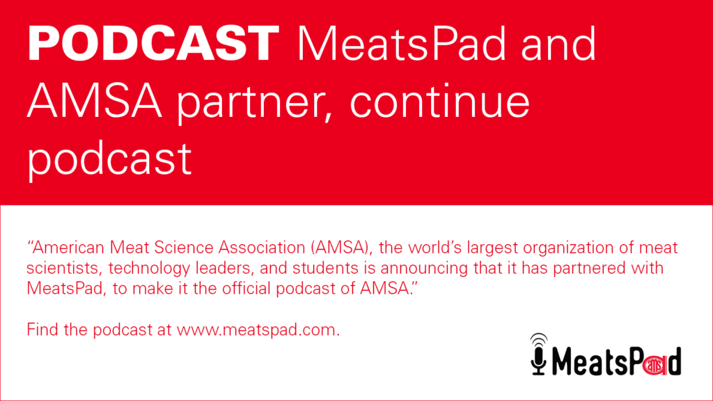 decorative banner announcing partnership between MeatsPad and AMSA